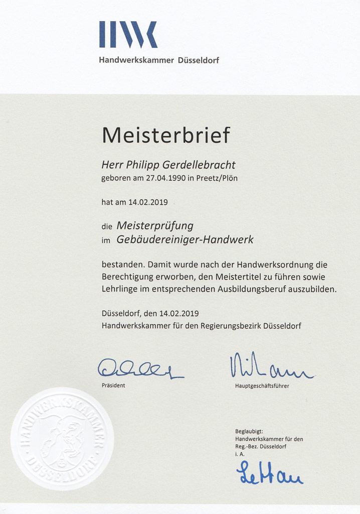 Gebäudereinigung Kiel Gerdellebracht GmbH & Co KG | Meisterbetrieb | Desinfektoren-Prüfung