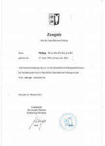 Desinfektor Zertifikat - Gebäudereinigung Gerdellebracht